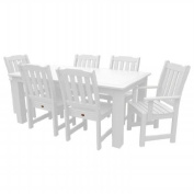 Highwood USA AD-DNL37-WHE Synthetic Wood 7 Piece Dining Set - White