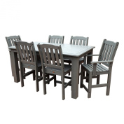 Highwood AD-CNL37-CGE 7-Piece Lehigh Rectangular Counter Height Dining Set, 90cm by 180cm , Coastal Teak