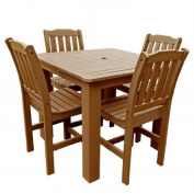 Highwood USA AD-CNL44-TFE Synthetic Wood 5 Piece Dining Set - Toffee