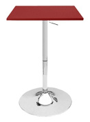 Zeta Contemporary Adjustable Bar Table - Cabernet Red