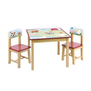 Guidecraft Farm Friends Table and Chairs Set, Green