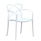 Fine Mod Script Dining Chair In White