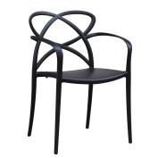 Fine Mod Script Dining Chair In Black