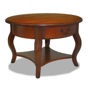 Leick French Countryside Round Storage Coffee table - Brown Cherry