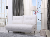 Gold Sparrow Tampa White Convertible Loveseat Sleeper