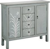 Stein World 75768 Selina Cabinet, Silver Blue Grey