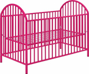 Altra Adjustable Pink Metal Crib by Cosco