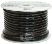Pyramid RPB425 Ground Wire 4-Gauge, 7.6m, Flexible, OFC Cable Wire, Translucent - Black