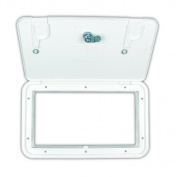 JR Products ZH152-A Polar White Key Lock Utility Centre