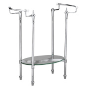 American Standard Hardware Standard Collection Metal Console Leg Set in Polished Chrome 8710.000.002