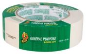 Duck Brand 394697 General Purpose Masking Tape, 3.6cm by 60-Yard, Single Roll, Beige