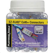 PLATINUM TOOLS Cat6 EZ-RJ45 Plug.   Easy install RJ45 plug for Cat6  solid or stranded cable. One