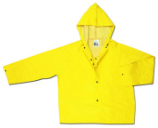MCR Safety 800JHXL Concord Neoprene/Nylon Flame Resistant Jacket with Attached Hood, Yellow, X-Large