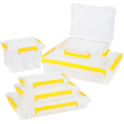35cm . 73-Compartment Stackable Parts and Crafts Storage Organisers 6 Tool Box Set