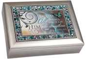 I Can Do All Things Through Him Philippians 4:13 Religious Decorative Jewel Lid Musical Music Jewellery Box Plays On Eagle