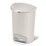 simplehuman 50 litre semi-round step can, stone plastic