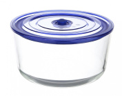 Kinetic Go Green Glasslock Premier Series Round 3050ml Food Storage Container with Vacuum Seal Lid 55304