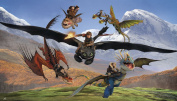RoomMates How to Train Your Dragon Chair Rail Prepasted Mural 1.8m x 3.2m - Ultra-strippable