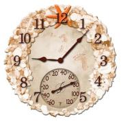 36cm . Seashells Clock & Thermometer