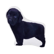 Plump Puppy Cutout Pillow - Black Lab