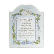 """Abbey Press """"Baptism Prayer"""" Plaque, 20cm x 25cm , Blue"""