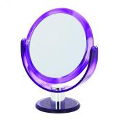 17cm Swirl Round Vanity Mirror x 10 mag/true image, Purple