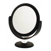 Danielle Enterprises Soft Touch 10X Magnification Round Vanity Mirror, Black