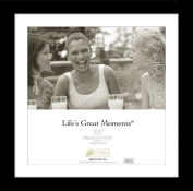 Timeless Frames 78316 Lifes Great Moments Black Wall Frame, 25cm x 25cm