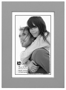 Malden International Designs Linear Wood Picture Frame, 10cm by 15cm , Grey