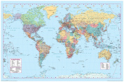 World Map 2 Poster 90cm x 60cm