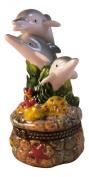 Marine Dolphin Porpoise Mammal Trinket Box phb Trio