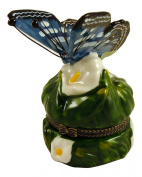 Lily Butterfly Butterflies Hinged Trinket Box phb