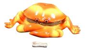 Ocean Seaside Tiki Orange Crab Claws Hinged Trinket Box PHB 512