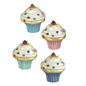 Fun Bakery Sweets Cupcake Trinket Boxes Assorted Set of 4 Andrea by Sadek