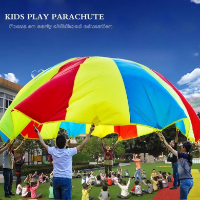 OurWarm® 200cm Kids Play Rainbow Parachute Outdoor Game Exercise Sport
