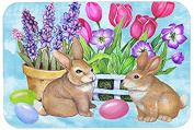 New Beginnings Easter Rabbit Glass Cutting Board Large PJC1066LCB