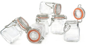 Grant Howard Square Glass Spice Jar, Set of 24