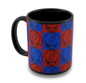 Grateful Dead Steal Your Face Checkerboard Coffee Mug 330ml