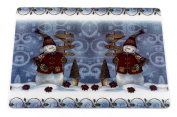 "Carnation Home Fashions ""Snow Friends"" Holiday Placemat, Set of 4"