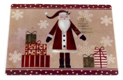 "Carnation Home Fashions ""Saint Nick"" Holiday Placemat, Set of 4"