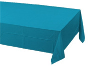 Touch Of Colour Plastic-Lined Table Cover 54x108 Turquoise