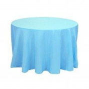 Koyal Wholesale Round Polyester Tablecloth, 300cm , Turquoise