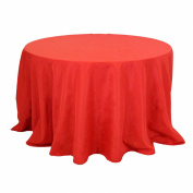Koyal Wholesale Round Polyester Tablecloth, 230cm , Red
