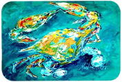 By Chance Crab in Aqua blue Kitchen or Bath Mat 24x36 MW1162JCMT