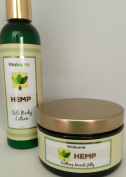 Hemp Soothing Muscle Jelly for Muscular Pain Relief and Hemp Silk Body Lotion