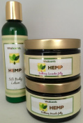 Hemp Soothing Muscle Jelly for Muscular Pain Relief, Hemp Soothing Lavender Jelly and Hemp Silk Body Lotion