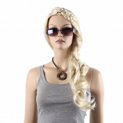 STfantasy 70cm Long Blond Braid Hair Wig For Women