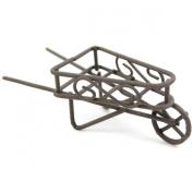 Micro Mini Iron Wheelbarrow, .13cm , Rustic