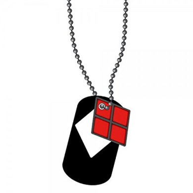 Necklace - DC Comics - Harley Quinn Cut Out Dog Tag New Anime dt2ewvdco