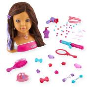 Dream Dazzlers Colour Dazzle Styling Head - Brunette